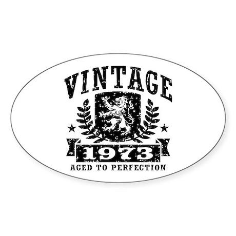 Vintage 1973 Sticker (Oval)