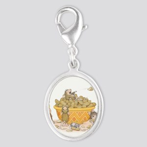 Nutty Friends Silver Oval Charm