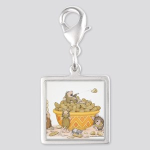 Nutty Friends Silver Square Charm