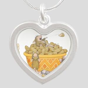 Nutty Friends Silver Heart Necklace