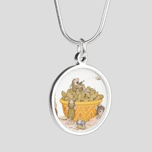 Nutty Friends Silver Round Necklace