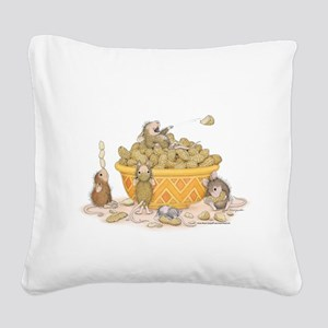 Nutty Friends Square Canvas Pillow
