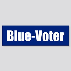 BLUE-VOTER Bumper Sticker