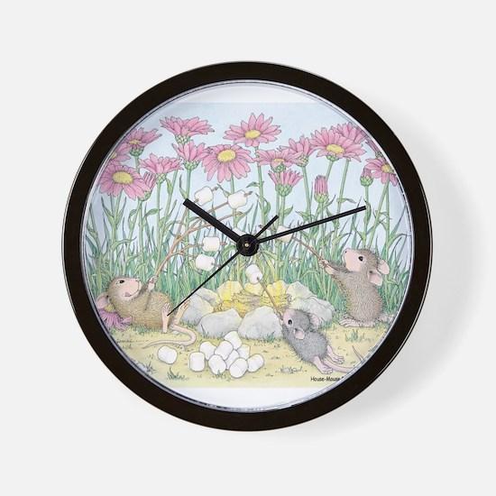 Fire Roasted Marshmallows Wall Clock