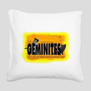 The Geminites Logo Square Canvas Pillow