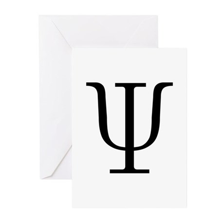 23rd greek letter 23rd letter psi greeting cards pk of 10 by 10424 | greek 23rd letter psi greeting cards pk of 10