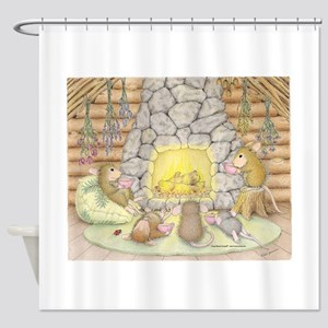 Quiet Evening with Friends Shower Curtain