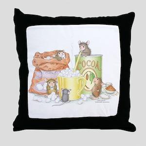 Hot Cocoa Social Throw Pillow