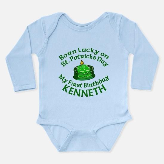 Personalized for KENNETH Long Sleeve Infant Bodysu
