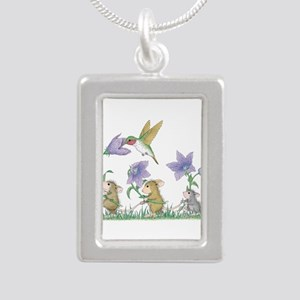 A Spring Tail Silver Portrait Necklace