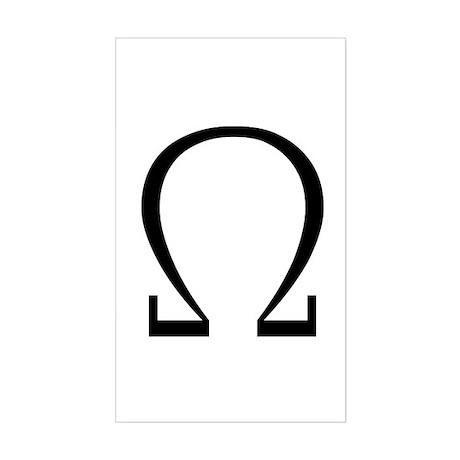 Greek Omega Symbol Rectangle Sticker