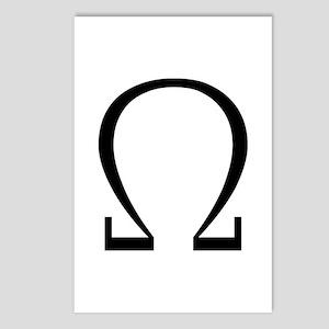 Greek Omega Symbol Postcards (Package of 8)