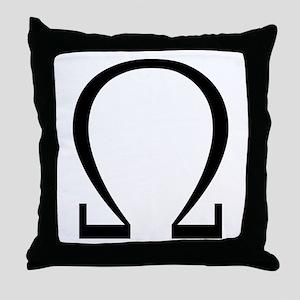 Greek Omega Symbol Throw Pillow