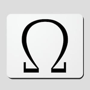 Greek Omega Symbol Mousepad