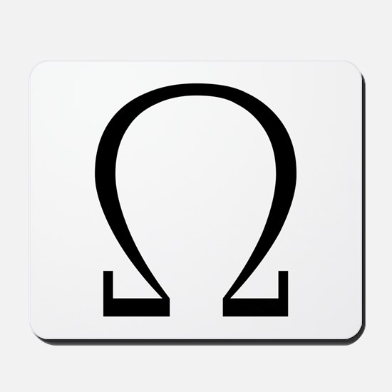 Greek Omega Symbol Mousepad