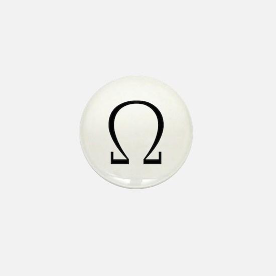 Greek Omega Symbol Mini Button
