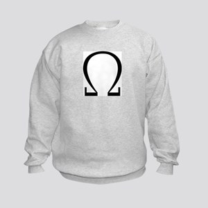 Greek Omega Symbol Kids Sweatshirt