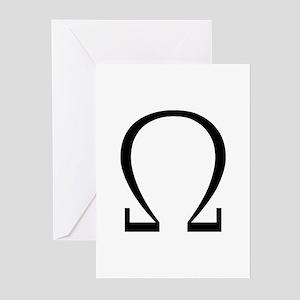 Greek Omega Symbol Greeting Cards (Pk of 10)