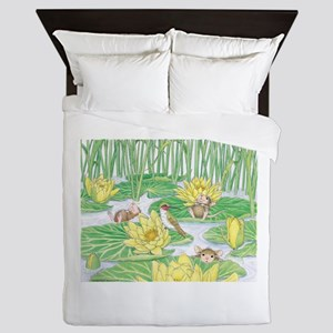 Lily Pad Pond Queen Duvet