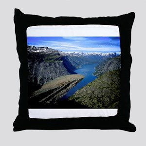 Trolltunga (Troll toungue) Throw Pillow