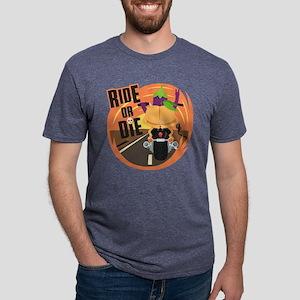 Emoji Eggplant and Peach Ri Mens Tri-blend T-Shirt