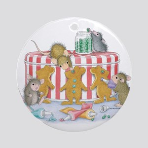 Ginger-Mouse Bakery Ornament (Round)