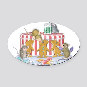 Ginger-Mouse Bakery Oval Car Magnet
