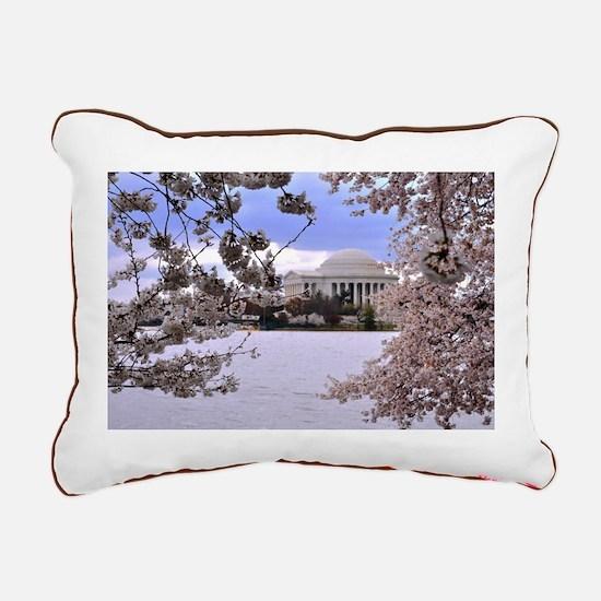 Thomas Jefferson Memorial Rectangular Canvas Pillo