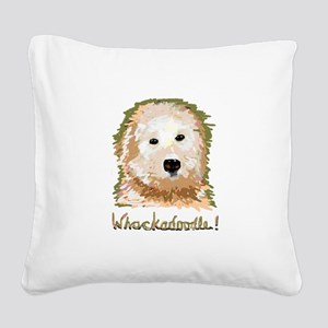Whackadoodle! - Square Canvas Pillow