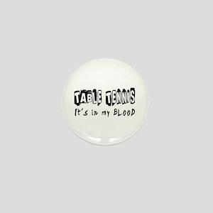 Table Tennis Designs Mini Button