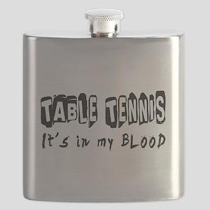 Table Tennis Designs Flask