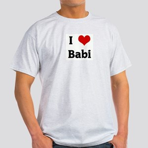 I Love Babi Ash Grey T-Shirt
