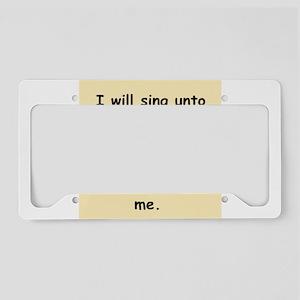 psalms License Plate Holder