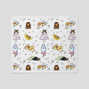 Pomeranian Pattern Throw Blanket