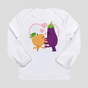 Emoji Eggplant and Peac Long Sleeve Infant T-Shirt