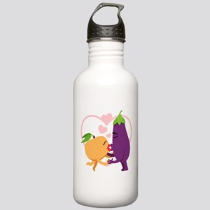 Emoji Eggplant and Pea Stainless Water Bottle 1.0L