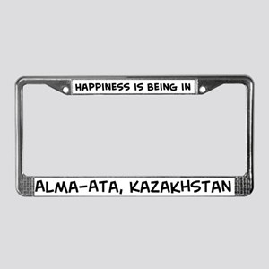 Happiness is Alma-Ata License Plate Frame