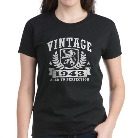 Vintage 1943 Women's Dark T-Shirt