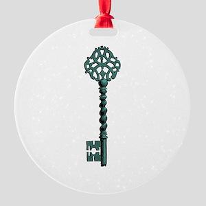 Skeleton Key Round Ornament