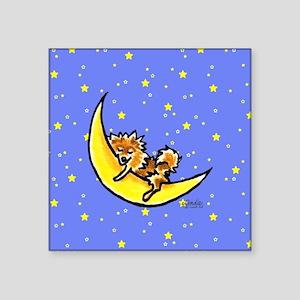 Pomeranian Moon Sticker
