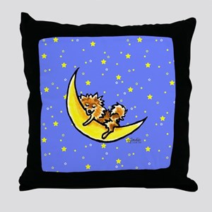 Pomeranian Moon Throw Pillow