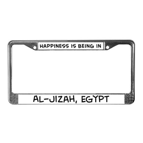 Happiness is Al-Jizah License Plate Frame