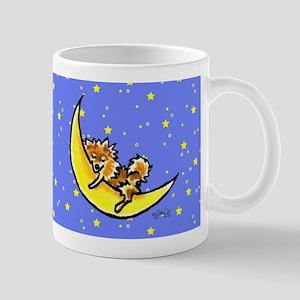 Pomeranian Moon Mug