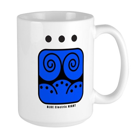 BLUE Electric NIGHT Large Mug