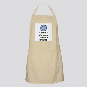 A smile is the same in every  BBQ Apron