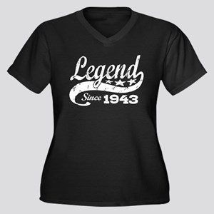 Legend Since 1943 Women's Plus Size V-Neck Dark T-