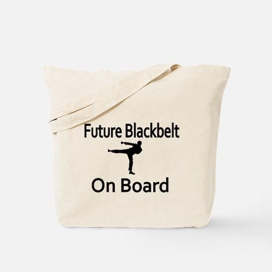 Future Blackbelt on Boarder Tote Bag
