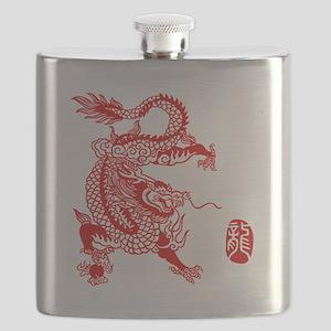 Asian Dragon - Flask
