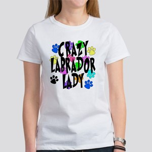 Crazy Labrador Lady Women's T-Shirt
