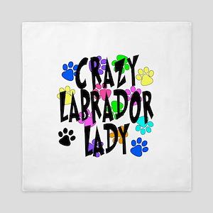 Crazy Labrador Lady Queen Duvet